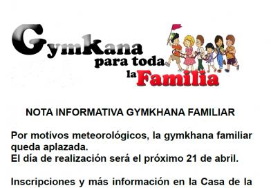 """La """"Gymkana para toda la familia"""" se celebrará el próximo 21 de abril"""