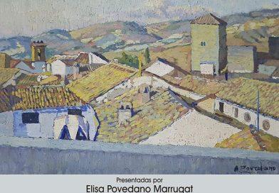 La profesora, Cristina Giménez, analiza la importancia de la vidriera en la obra  de Antonio Povedano