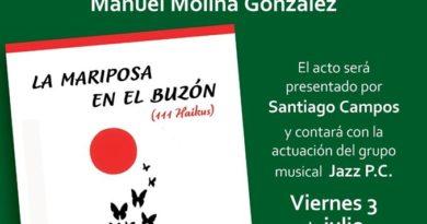 """Manuel Molina presenta mañana su último trabajo, """"La mariposa en el buzón (111 Haikus)"""""""