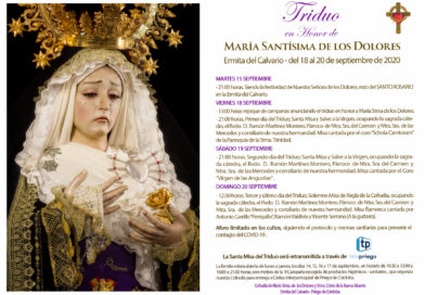 La Cofradía de los Dolores celebra las fiestas en honor a su titular